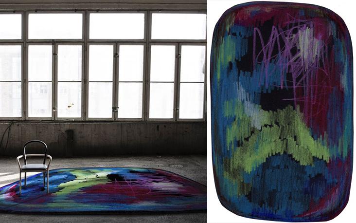 Open vrouw hand mooie kleur schilderen met fractal ingang